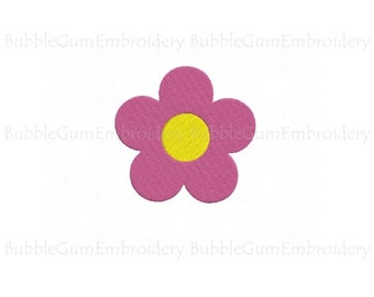 Daisy Flower Embroidery Design Instant Download