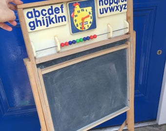 French School Blackboard Chalk Board by JeuJura. Menu Board A Board. Display Restaurant Nursery Decor. Back to School. Display Board Sign.
