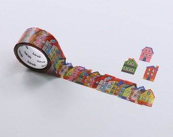 Bande BDA277 - HOUSE masking roll stickers washi 200pieces flower washi tape Made in Japan