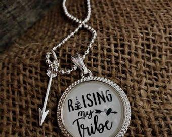 "Pendant Necklace ""Raising My Tribe"""
