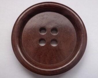 8 dark brown buttons 23mm (3212) button Brown