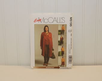 Easy McCall's M5195 Plus Size Sewing Pattern (c. 2006) Plus Sizes 22W-28W Unlined Jacket in Two Lengths, Top, Skirt, Gaucho and Pants