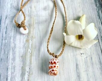 Hawaiian puka shell necklace - beachy surfer jewelry - handmade in Hawaii