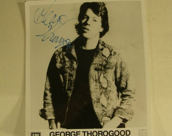 Hand Signed Photo George Thorogood Rock And Roll Guitar Player Autographed Photograph
