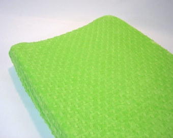 Green Changing Pad Cover Lime
