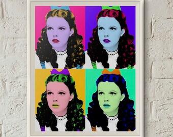 Dorothy Wizard of Oz Quartet,Wizard of Oz Poster,Judy Garland,Pop Art Portrait,Printable Art,Wizard of Oz Art,Andy Warhol,Wizard of Oz Decor