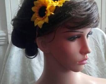 Sunflower headband fascinator
