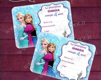 """Themed birthday invitation """"Frozen"""" Birthday invitation"""