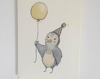 Party Bird greeting card