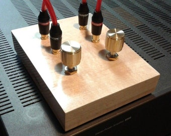 Solid Maple Audiophile Passive Preamplifier Point-to-Point Hand Wired
