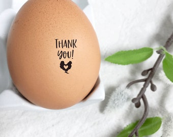 Egg Stamp - Thank you - Chickens - Mini Stamp for Egg - Barn Stamp - Chicken Stamp - FarmhouseMaven