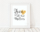 LOVE is all that matters ...