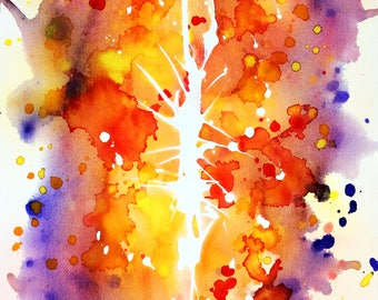 Original watercolor, Soul break, Mind, abstract, original painting, watercolor, abstract art, art, painting