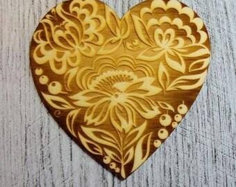 heart 1160 embellishment wooden creations