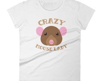 Crazy Mouse lady Women's short sleeve t-shirt
