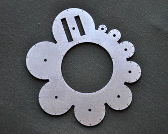 Small stainless steel circle templates-stencil for leather work