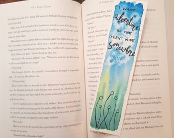 Adventure Watercolor Bookmark, Gift For Booklover