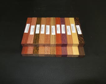 22 exotic wood pend turning blanks