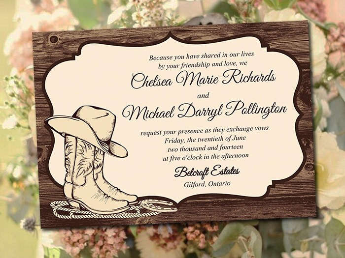 Western Wedding Invitations Templates: Printable Wedding Invitation Template Country