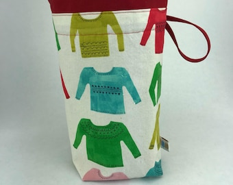 Sweaters for All - Knitting, Crochet or Fiber-work Project Bag