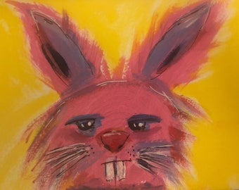 Grumpy Bunny Notecards (set of 6 with envelopes in a clear box)