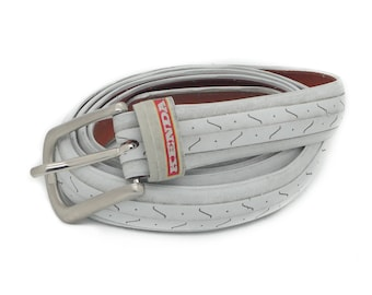 """Bicycle Tire Belt """"KENDA WHITE"""" (upcycled vegan handmade) by tirebelt.com - Fall Collection 2017"""