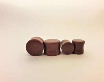 Goldstone ear plugs, stone ear plugs,
