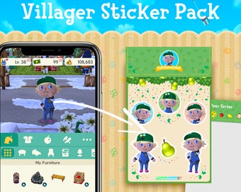 Personalized Animal Crossing Villager Sticker Pack