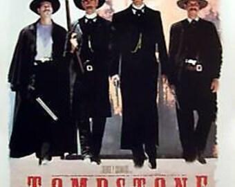 Tombstone White 23x35 Movie Poster Wyatt Earp