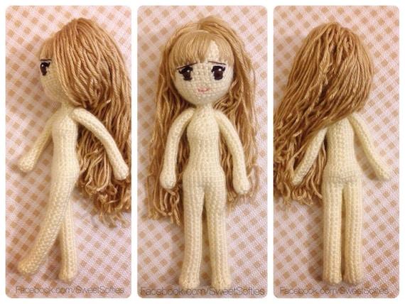 Amigurumi Hair Tutorial : Amigurumi crochet doll pattern anime kiki the kitty cat girl