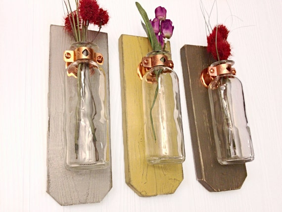 Hanging Flower vase Wall Decor Shabby Chic Wall Sconce