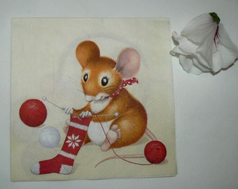 2  images Napkins from Holland Mouse knitting