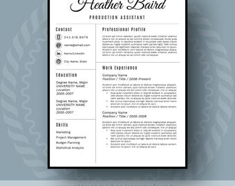 Modern Resume Template for Word 13 Page Resume Cover