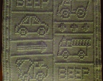 Beep Beep Baby Blanket Crochet PDF FORMAT PATTERN