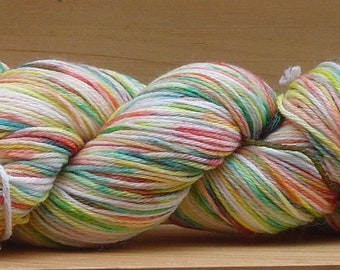 Sock (4Ply), hand-dyed yarn, 100g - Tie Dye