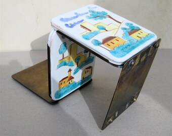 Vintage Tiles Bookends Architectural Houses Adobe ON SALE