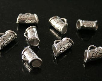 12 bails in antique silver. (ref:1309).