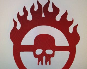 Mad Max Fury Road Decal approximately 5 inches by 4 inches