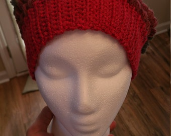 Hand Crocheted Puff Stitch Slouchy Hat