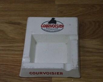 Vintage French Courvoisier Ash Tray // French Bistro Ashtray
