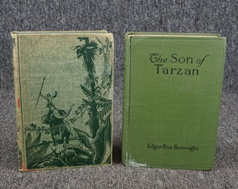 Set Of 2 Son Of Tarzan And Tarzan Lord Of The Jungle By Edgar Rice Burroughs