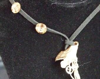lost wax bronze pendant