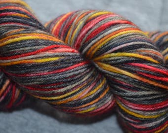Coal fire, hand dyed, winter, wool, socks, shawls, knitting, crochet, warmth, variegated