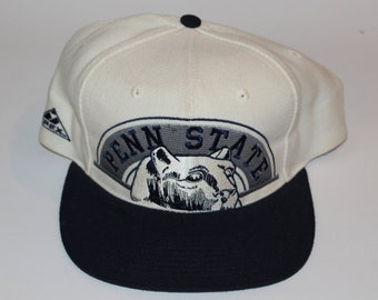Vintage 90s University of Penn State Nittany Lions Apex One Adjustable Mens One Size Fits All Adult Retro Logo Snapback Baseball Cap Hat