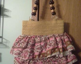 Skirt style shoulder purse