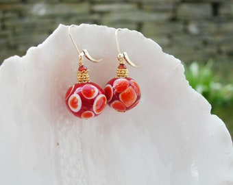 Murano Glass Polka Dot Earrings