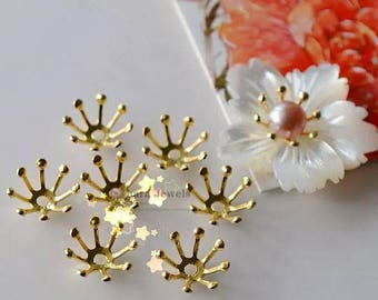 100pcs Brass Stamen charm, 10mm, 5 colors Stamen Pendant,  Stamen beads for Flower.
