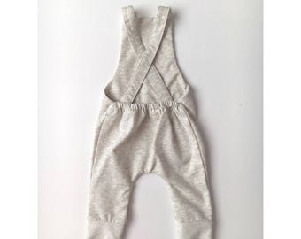 Heathered Oatmeal Romper