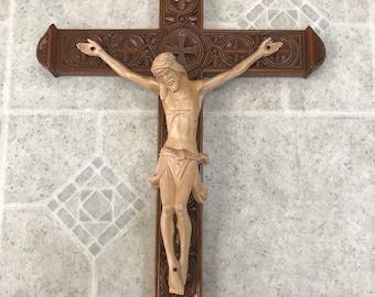 Hand carved crucifix