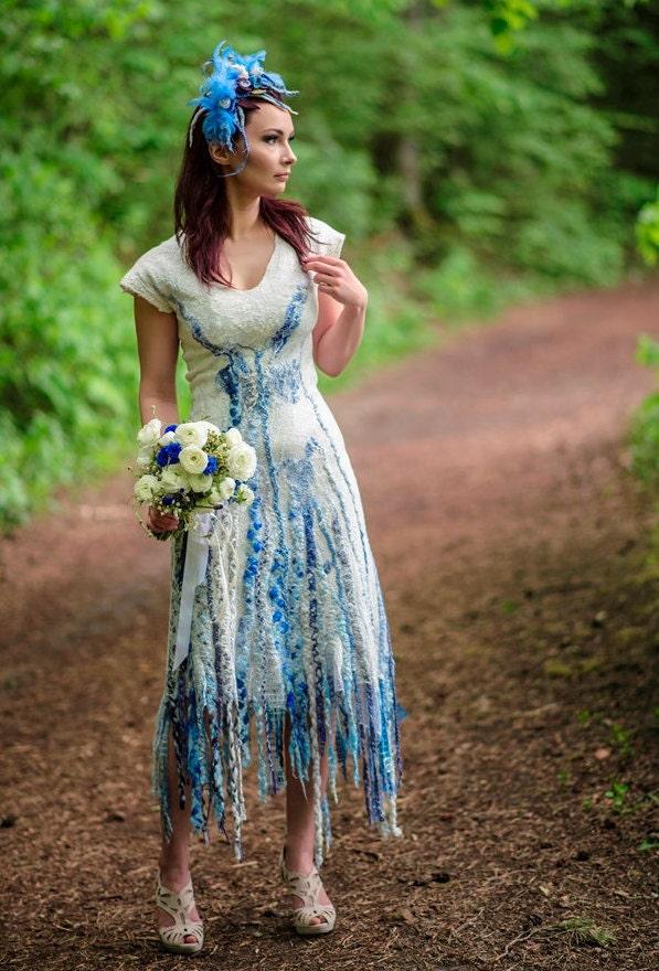 Boho wedding dress Alternative wedding dress Tribal wedding